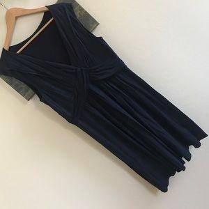 Darling tank midi dress with twist front detail