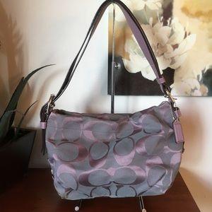 Coach East West Duffle handbag F15068 Purple Gray