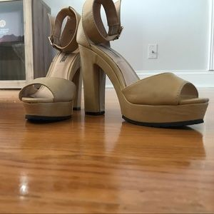 Nude Strappy Heels Size 8.5