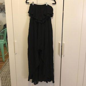 RVCA Black Ruffle Maxi Dress