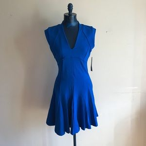 New French Connection V Neck Fit and Flare Dress