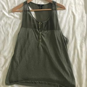 H&M army green tank top