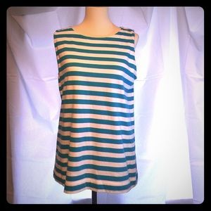 Loft Sleeveless Top with Zip up Back