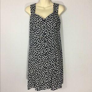 1990s button front dress