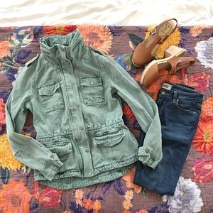 BCBG Green Army / Utility Jacket