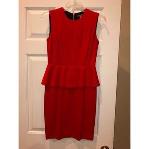 Vince Camuto Red Peplum Dress Size 0