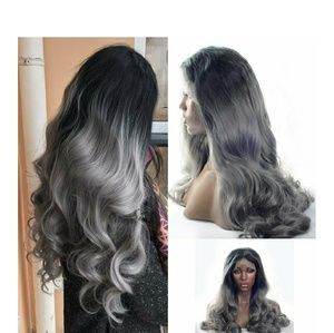 Gray Black Bodywave Beauty Lacefront Wig 22-24inch