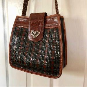 Brighton Black & Chocolate Woven Handbag