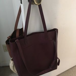 NWT Madewell Transport Tote in Dark Cabernet