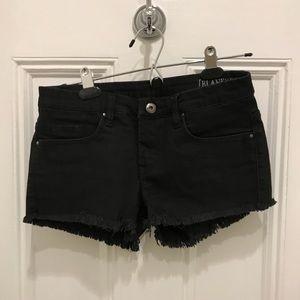 BlackNYC The Little Queenie Black Denim Shorts 25