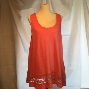 LOFT Tank Top with Lace Detail