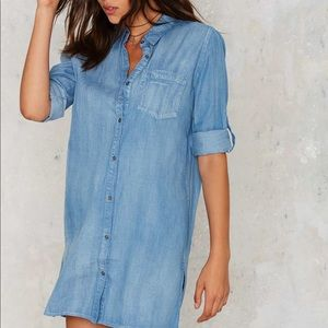 ✨Nasty Gal Call It A Day Chambray Dress