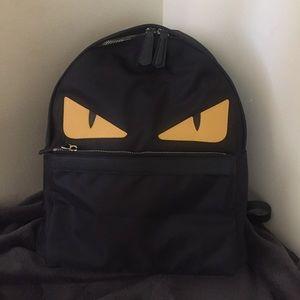 fendi monster nylon backpack