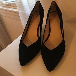 BCBG Black Suede Heels