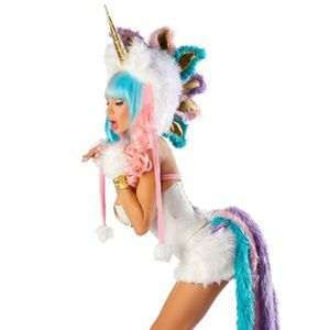 J. Valentine Unicorn Corset, Skirt Costume