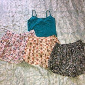 Bundle of 3 Shorts w/ Tank! ☀️