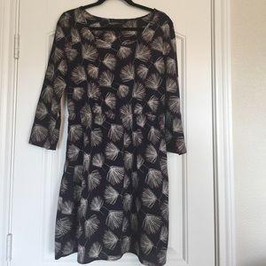3/4 length sleeve elastic waist dress