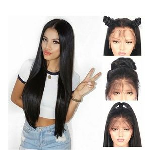 Black Straight Lacefront Wig 22-24 inches!!