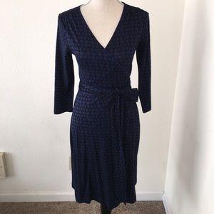 Soft 3/4 sleeve wrap dress