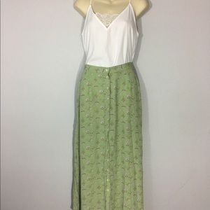 1990s button front skirt