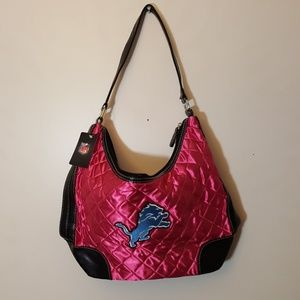 Detroit Lions quilted hobo purse