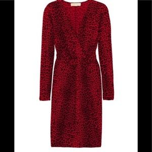 michael-kors black cheetah dress