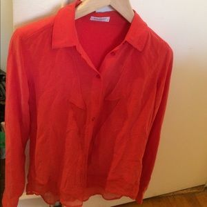 NWOT silk equipment blouse size small