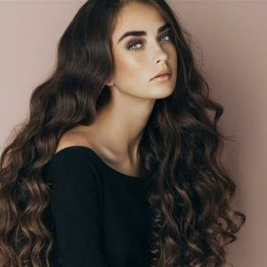 Dark Brown Wavy Beauty Lace Front Wig Wig 22-24inc