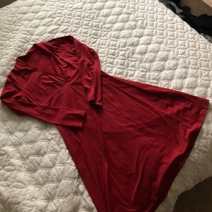 Beautiful red long sleeve dress, Patagonia, size L