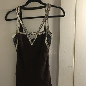 Gorgeous sequin and silk Emma & Sam top- small