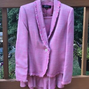 Pink and blue Kasper Skirt Suit 💗 NWT
