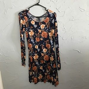 Floral above knee fall dress