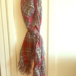 j.crew plaid scarf