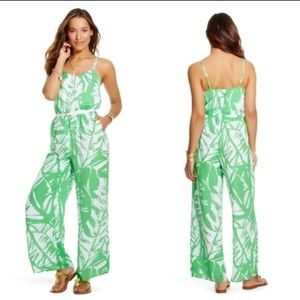 Lilly Pulitzer Green & White Jumpsuit - size small