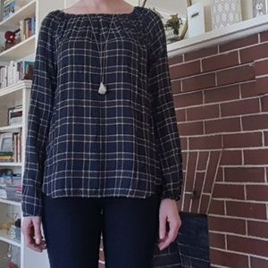 NWOT Loft Outlet Plaid Tunic
