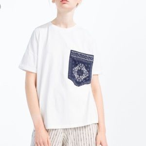 Zara BANDANA PATCH T-SHIRT