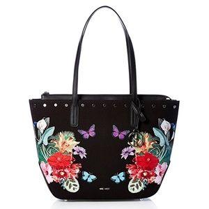 Nine West Reana Tote, Black Floral