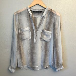 Zara Basics Sheer Blouse