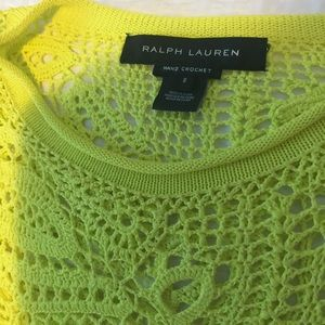 Ralph Lauren hand crochet top