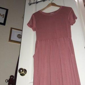 12 Pm By Mon Ami Dresses - Maxi mauve dress with pockets