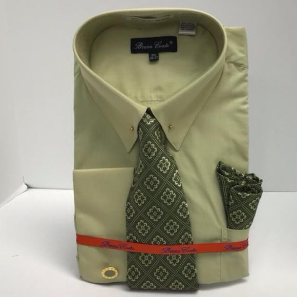 49cdcc91c1 Bruno Conte Shirts | Mens Dress Shirt Sage Combo Pack | Poshmark