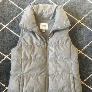 Cozy Gray Puffer Vest - Sz S