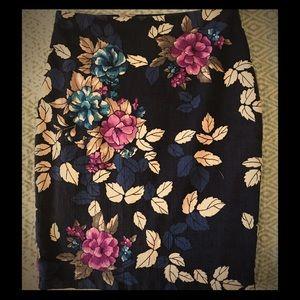 Ann Taylor Professional Floral Pencil Skirt