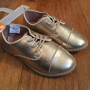 Gymboree gold oxfords