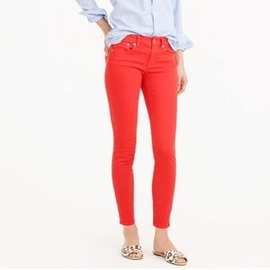 J. Crew 'Toothpick' Colored Skinny Ankle  Jeans 33