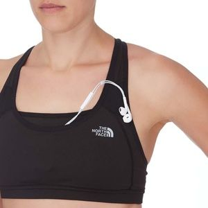North Face Stow-n-Go Black Sports Bra - S/M