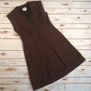 Milly of New York Sleeveless Brown Silk Dress