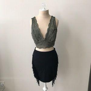 Express Mini Skirt with Fringe