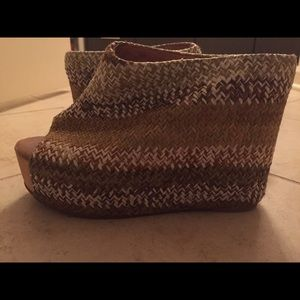 Jeffrey Campbell handmade woven shoes
