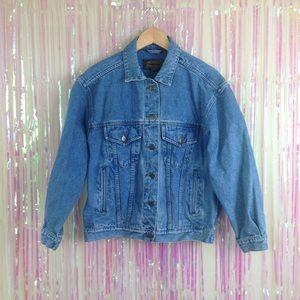 Vintage 90s Denim Blue Jean Eddie Bauer Jacket